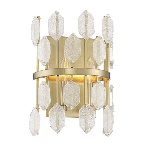 Savoy House Royale 2 Light Wall Sconce, Noble Brass