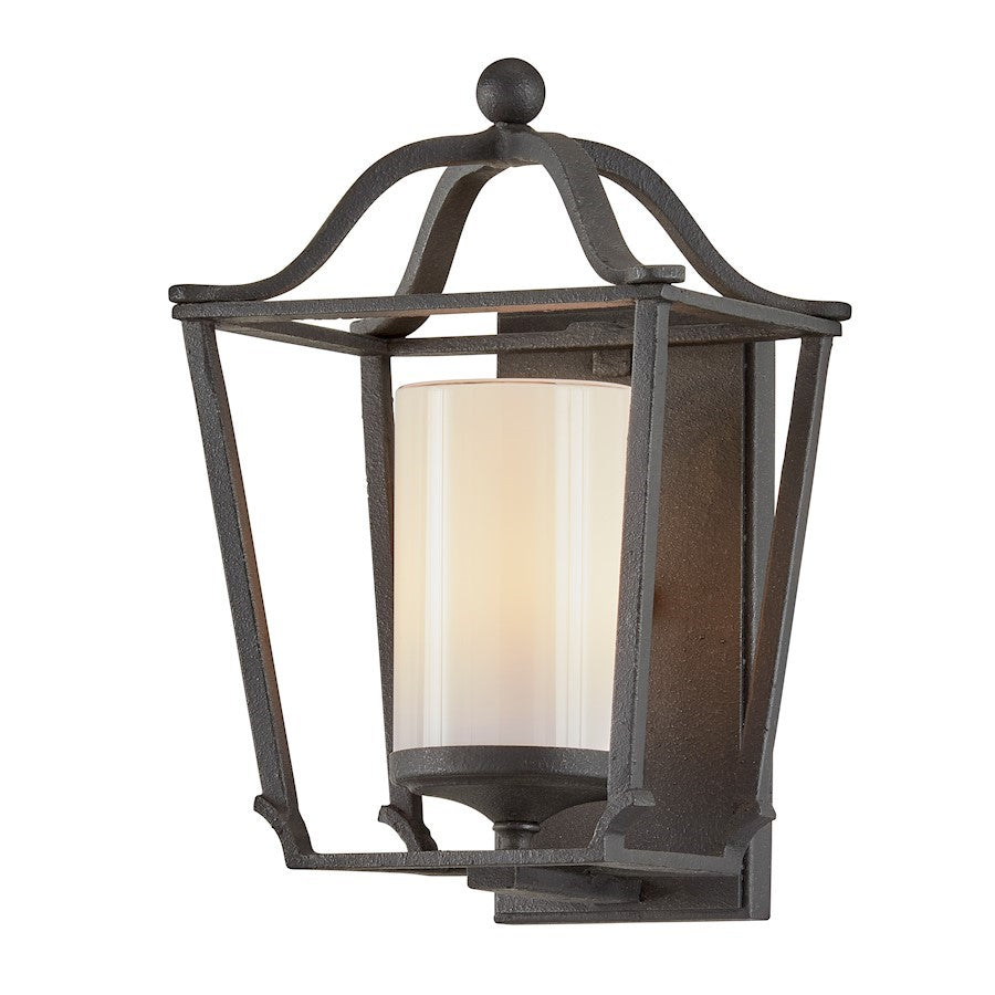Troy Lighting Princeton 1 Light Outdoor Wall Sconce, French Iron