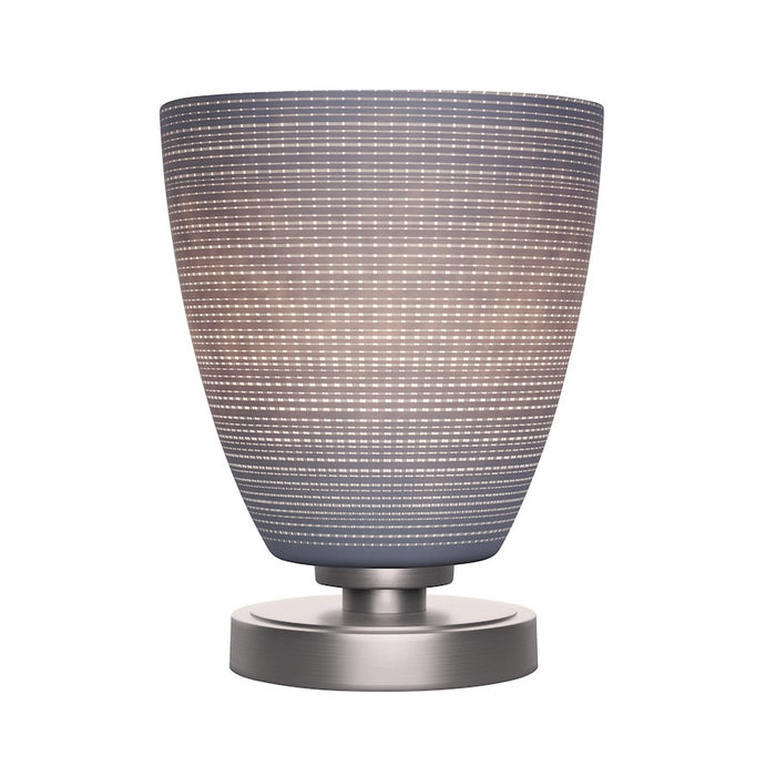 "Toltec Luna Accent Table Lamp, Graphite/8"" Gray Matrix Glass - 51-GP-4072"