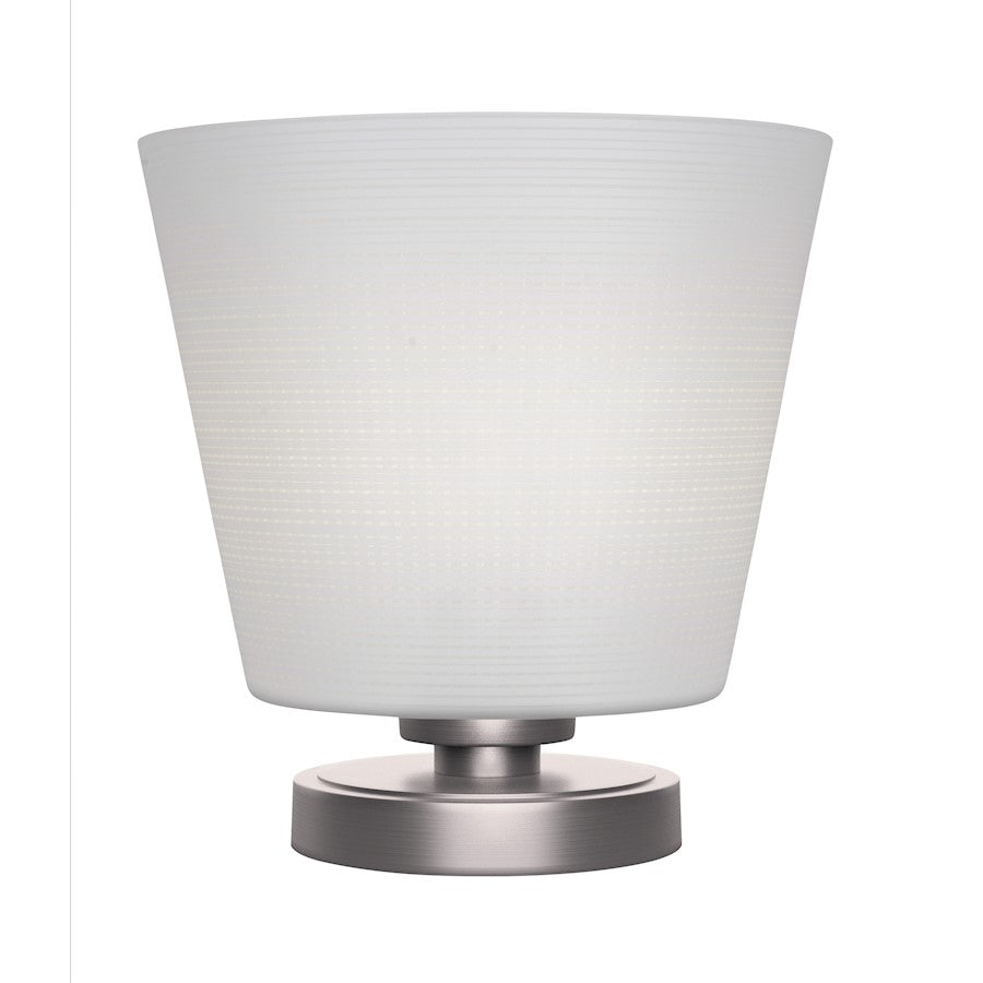 "Toltec Luna Accent Table Lamp, Graphite/10"" White Matrix Glass - 51-GP-4081"