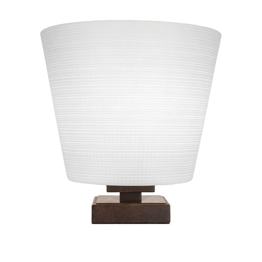 "Toltec Luna Accent Table Lamp, Dark Granite/10"" White Matrix - 52-DG-4081"
