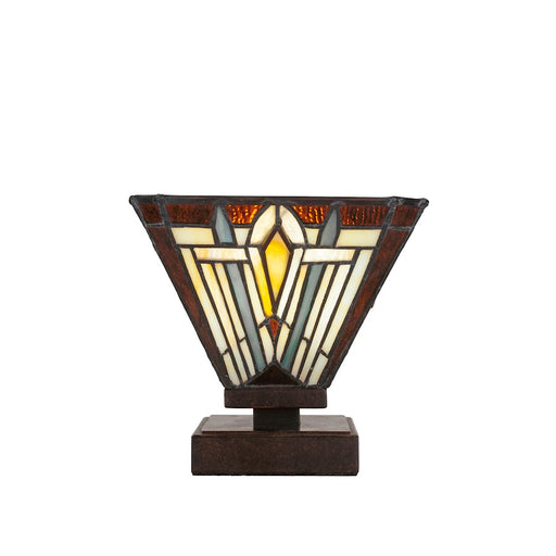 "Toltec Luna Accent Table Lamp, Dark Granite/7"" Square Tahoe Art - 52-DG-9596"