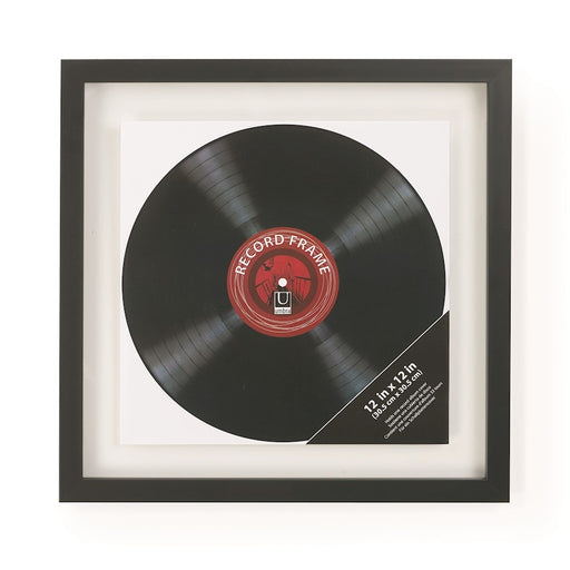 Umbra Record Photo Display Flt 12X12/ 14.5X1, Black
