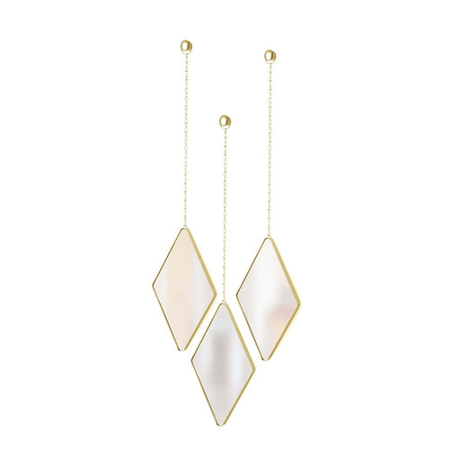 Umbra Dima Diamond Mirror (3), Matte Brass