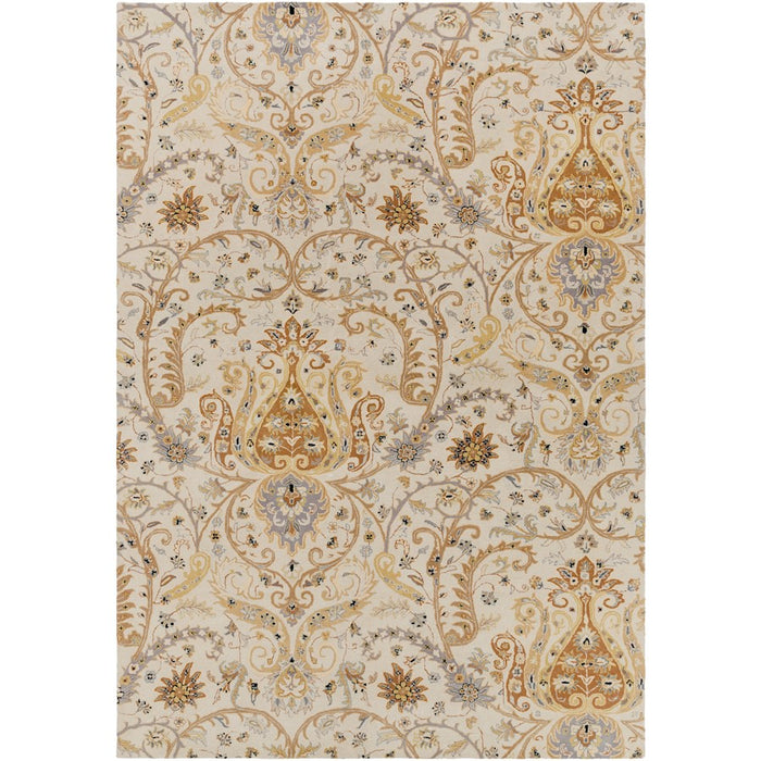 Surya A-165 Ancient Treasures Area Rug in Light Gray/Moss