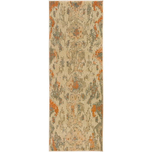 Surya ABS-3057 Arabesque Runner, 2'7' x 7'3', Beige/Dark Brown