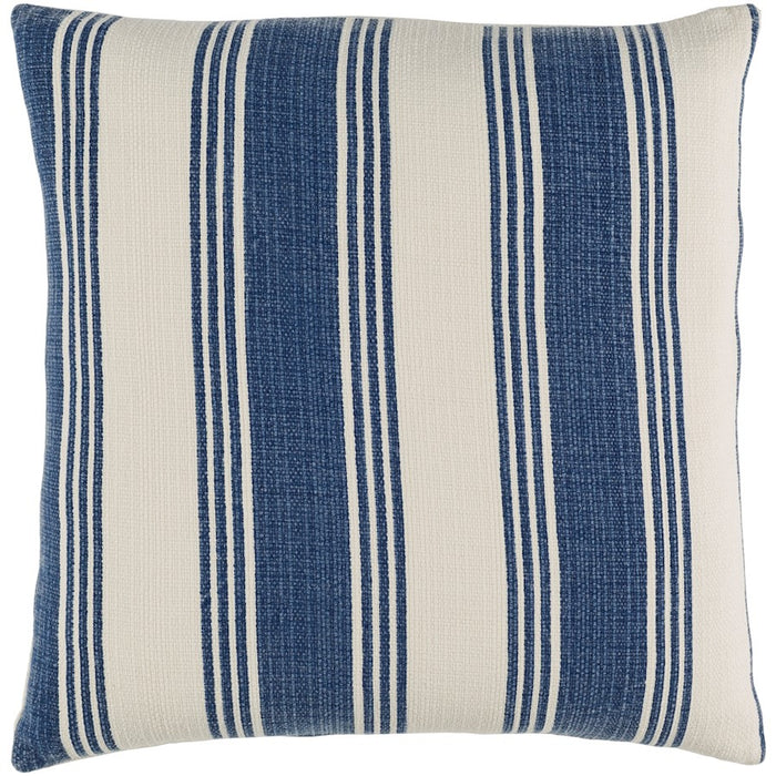 Anchor Bay by Surya Pillow, Navy/Cream