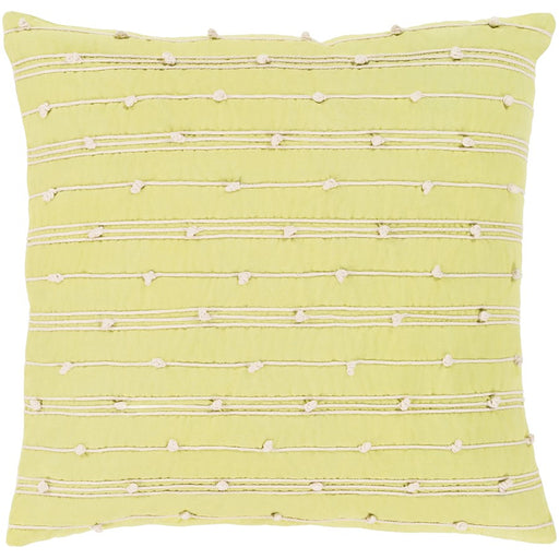 Accretion by Surya Pillow, Lime/Cream