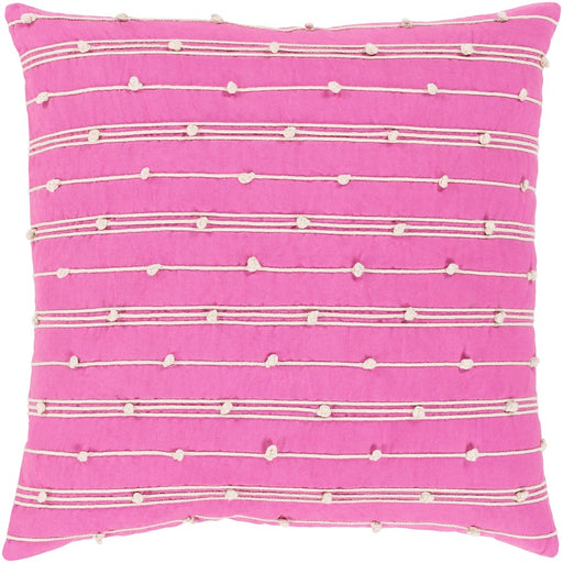 Accretion by Surya Pillow, Bright Pink/Cream