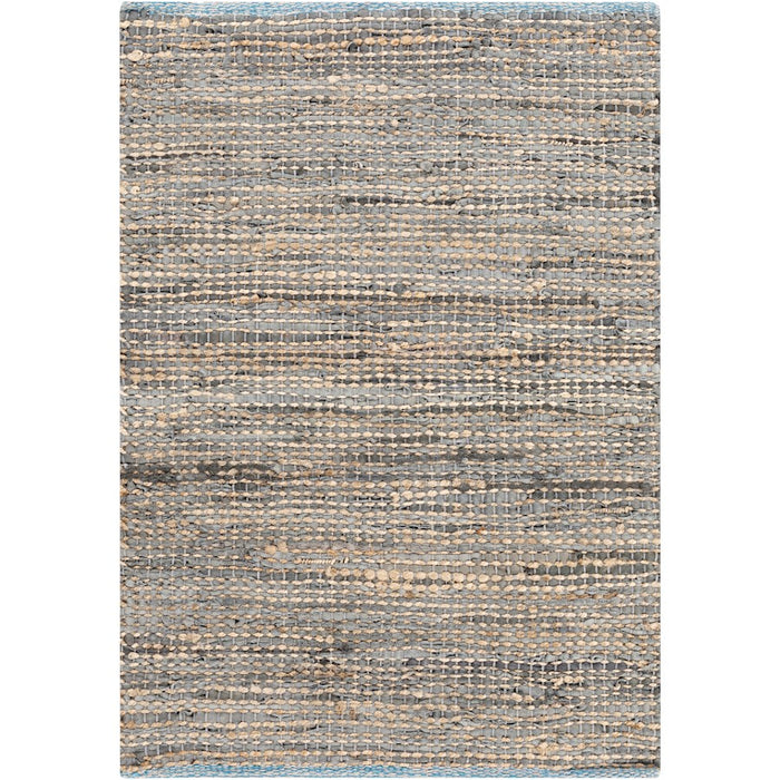 Surya ADB-1000 Adobe Area Rug in Taupe/Bright Blue