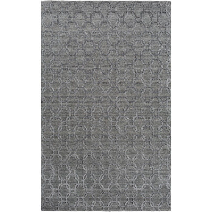 Surya AET-1000 Arete Area Rug in Medium Gray/Black