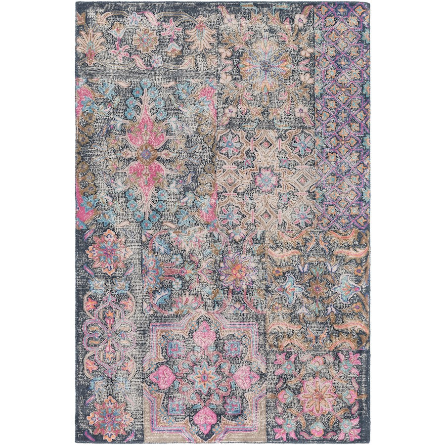 Surya AGA-1000 Antigua Area Rug in Bright Pink/Blush