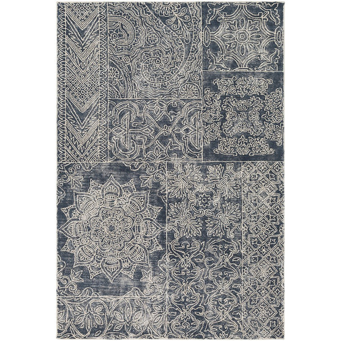 Surya AGA-1001 Antigua Area Rug in Navy/Cream