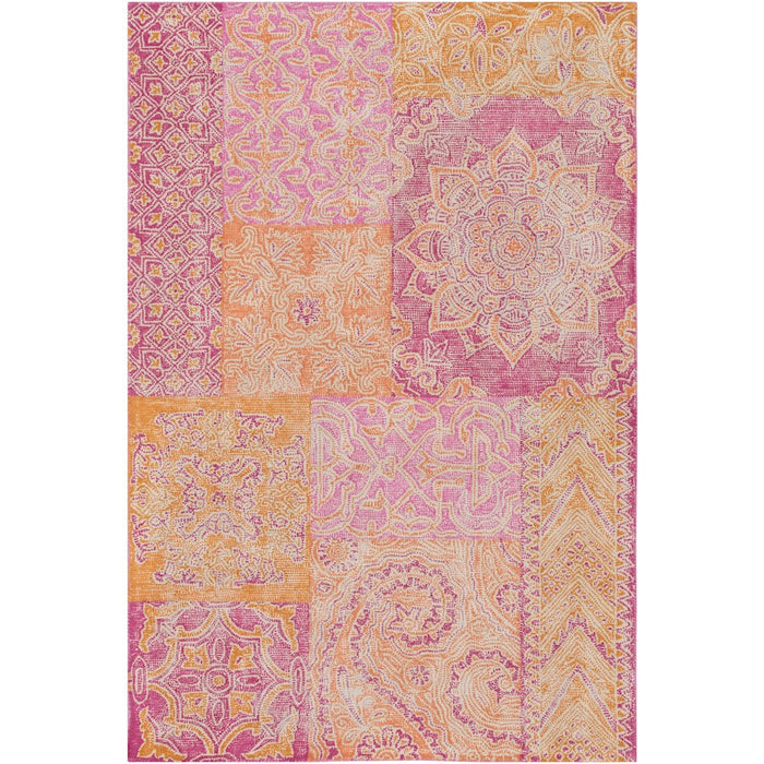 Surya AGA-1001 Antigua Area Rug in Bright Pink/Peach