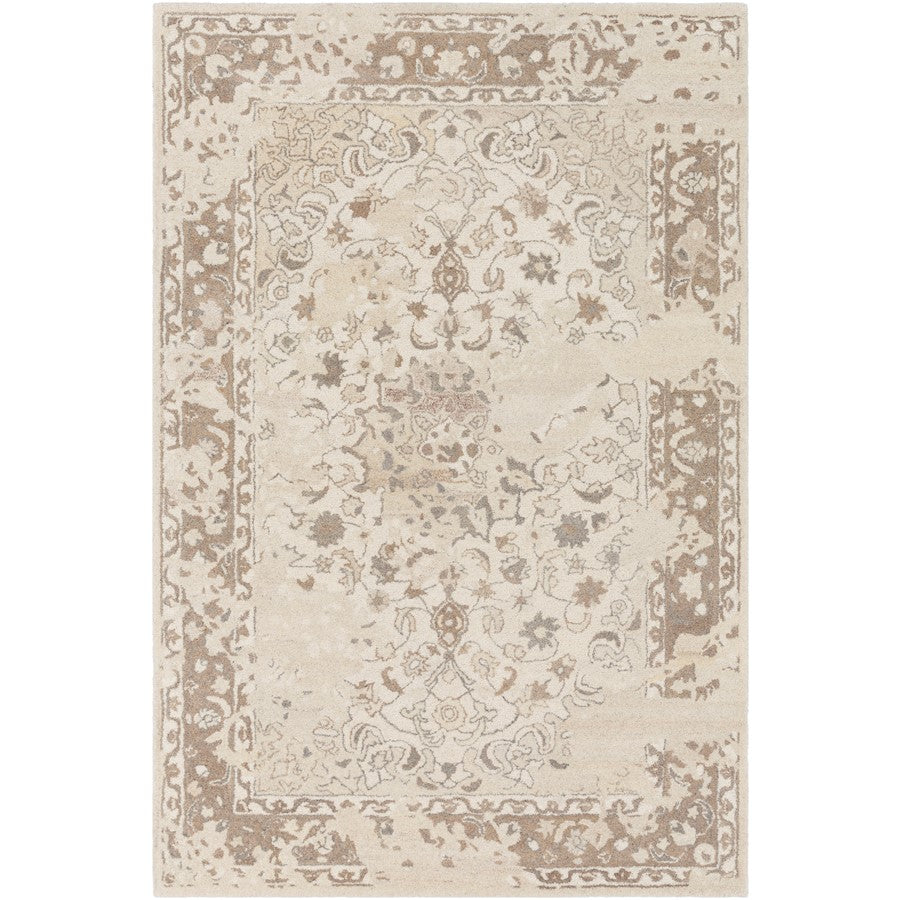 Surya AIL-1009 Asheville Area Rug in Cream/Tan