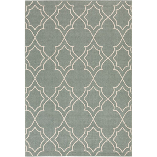 Surya ALF-9589 Alfresco Indoor/Outdoor Area Rug in Sage/Cream