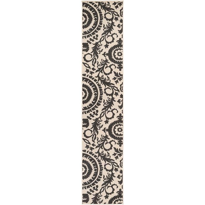 Surya ALF-9612 Alfresco Indoor/Outdoor Area Rug in Black/Khaki