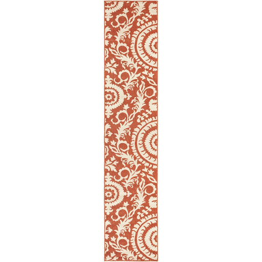 Surya ALF-9613 Alfresco Indoor/Outdoor Area Rug in Rust/Cream