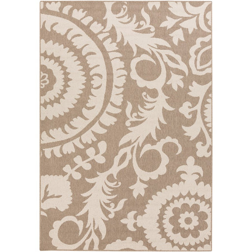 Surya ALF-9616 Alfresco Indoor/Outdoor Runner, 2'3' x 11'9', Camel/Cream