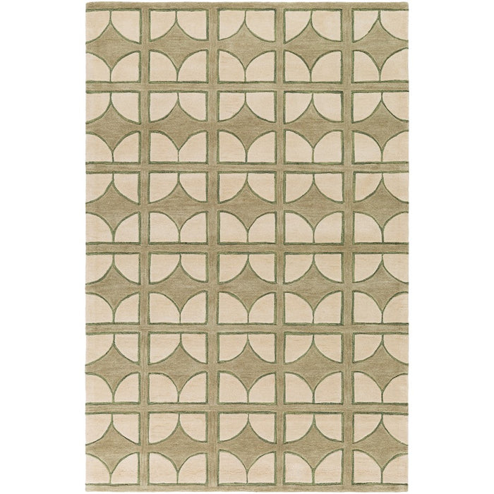 Surya ALX-1003 Alexandra Area Rug in Moss/Mint
