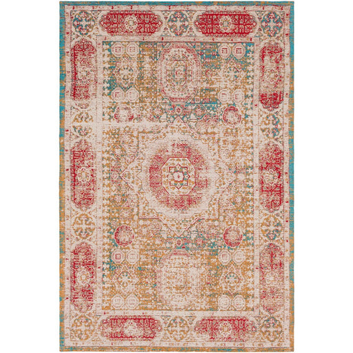 Surya AMS-1009 Amsterdam Area Rug in Mustard/Bright Blue