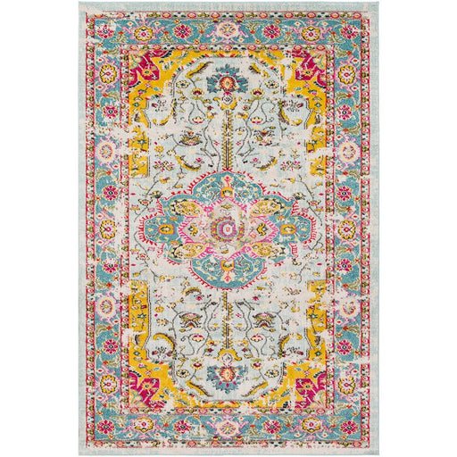Surya ANI-1000 Anika Area Rug in Aqua/White