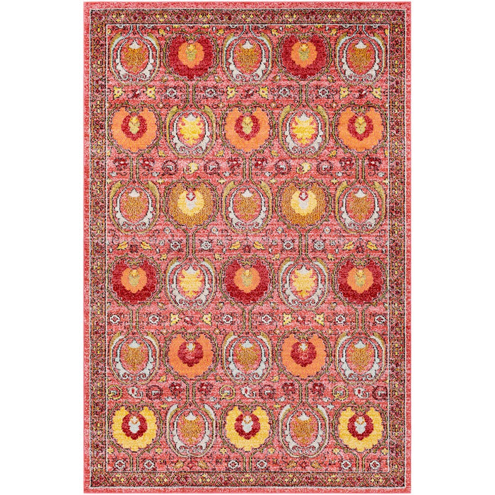 Surya ANI-1007 Anika Area Rug in Bright Pink/Burnt Orange