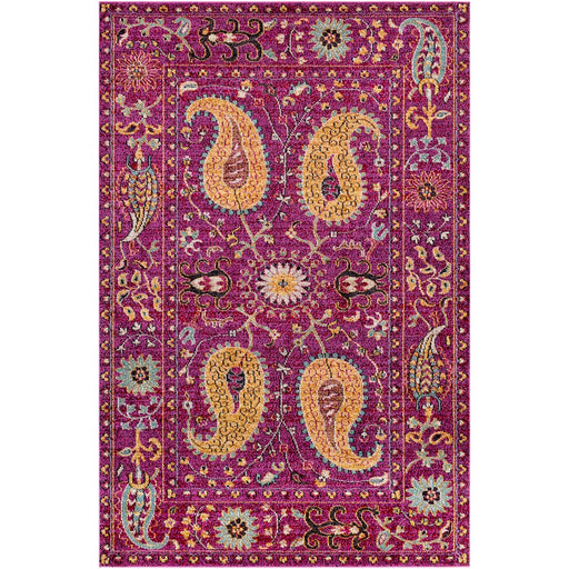 Surya ANI-1009 Anika Area Rug in Bright Pink/Dark Blue