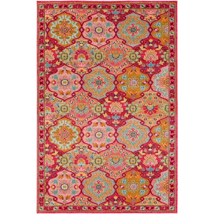 Surya ANI-1016 Anika Area Rug in Bright Pink/Bright Red