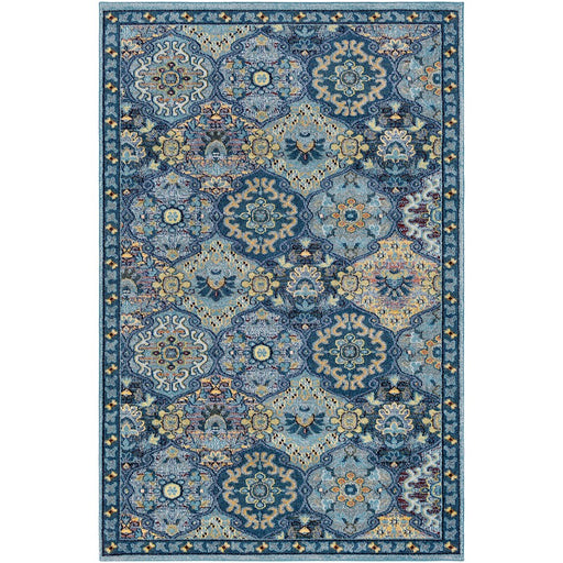 Surya ANI-1016 Anika Area Rug in Teal/Dark Blue
