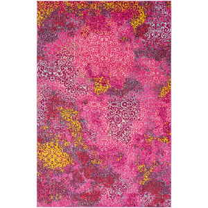 Surya ANI-1020 Anika Area Rug in Bright Pink/Bright Red/Saffron