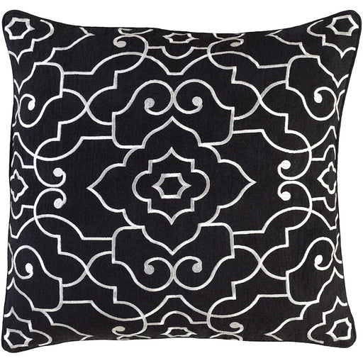 Adagio by C. Olson for Surya Down Pillow, Black/Cream