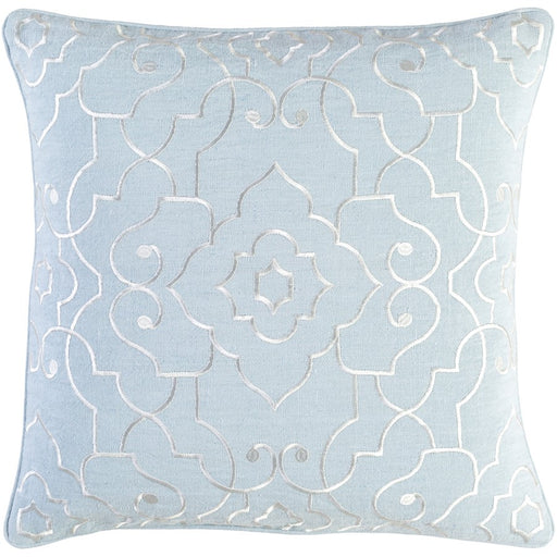 Adagio by C. Olson for Surya Down Pillow, Light Gray/Cream
