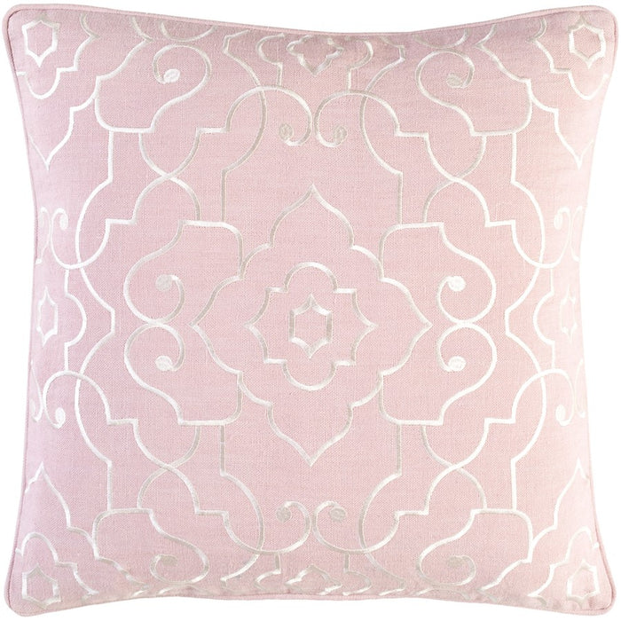 Adagio by C. Olson for Surya Down Pillow, Pale Pink/Cream