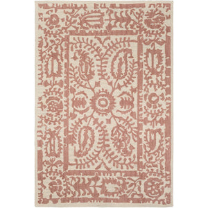 Surya ARM-1000 Armelle Area Rug in Rose/Cream