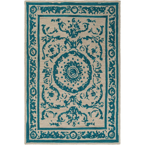 Surya ARM-1003 Armelle Area Rug in Teal/Tan