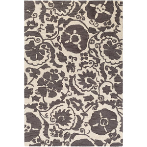 Surya ARM-1009 Armelle Area Rug in Charcoal/Cream