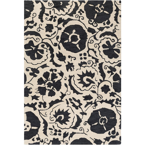 Surya ARM-1009 Armelle Area Rug in Black/Cream