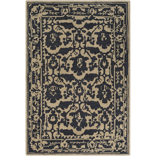Surya ARM-1031 Armelle Area Rug in Black/Tan