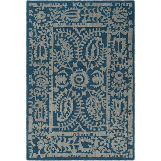 Surya ARM-1031 Armelle Area Rug in Navy/Light Gray