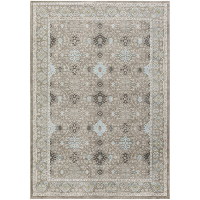 Surya ARO-1000 Allegro Area Rug in Medium Gray/White
