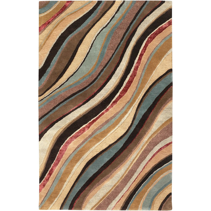 Surya ART-229 Artist Studio Area Rug in Dark Brown/Denim