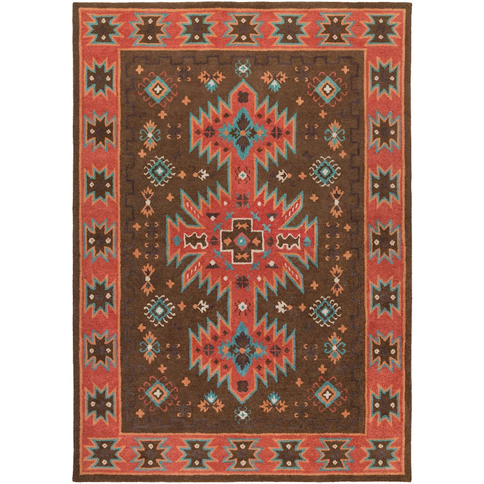 Surya ARZ-1004 Arizona Area Rug in Dark Brown/Rust