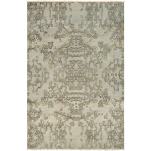 Surya ASC-1000 Atmospheric Area Rug in Khaki/Dark Green