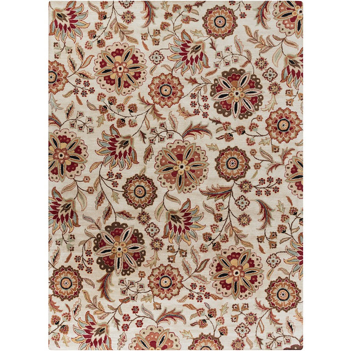 Surya ATH-5035 Athena Area Rug in Dark Brown/Dark Red