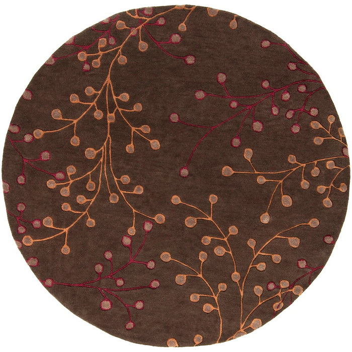 Surya ATH-5052 Athena Area Rug in Dark Brown/Dark Red