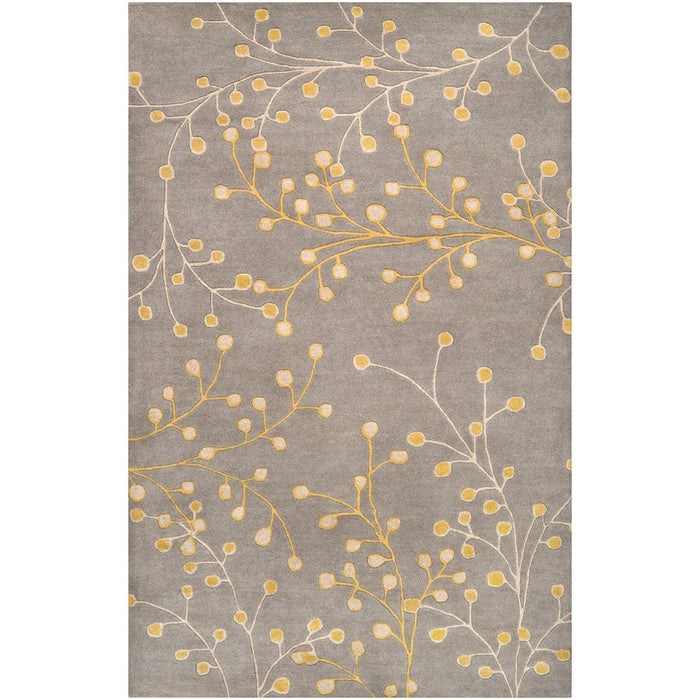 Surya ATH-5052 Athena Area Rug in Medium Gray/Taupe