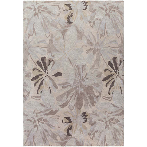 Surya ATH-5135 Athena Runner, 3' x 12', Taupe/Light Gray