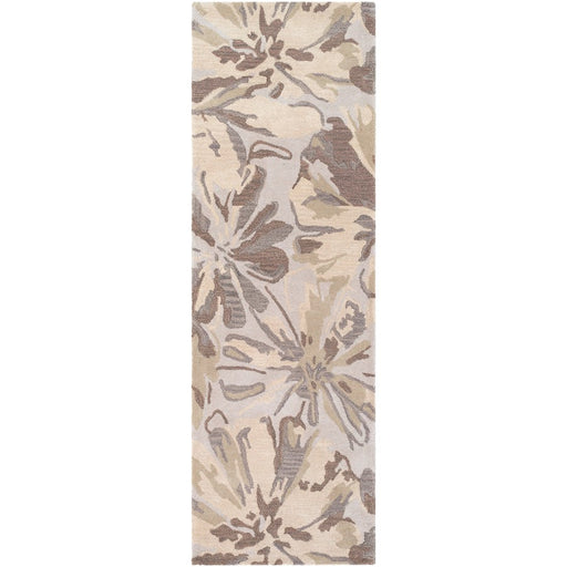 Surya ATH-5148 Athena Runner, 2'6' x 8', Light Gray/Khaki