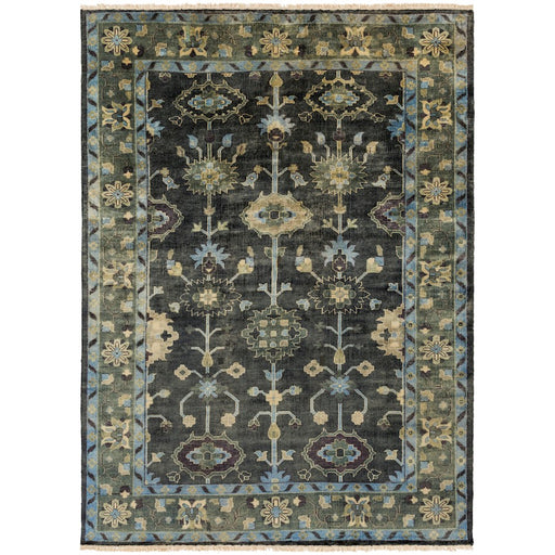 Surya Antique Area Rug, Dark Green/Charcoal